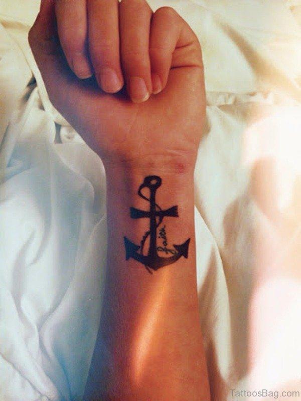 Cross Anchor Tattoo Design