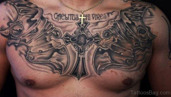 Cross And Armor Tattoo