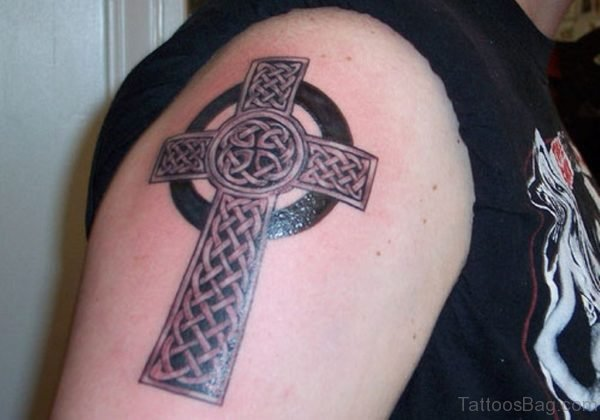 Cross Celtic Shoulder Tattoo
