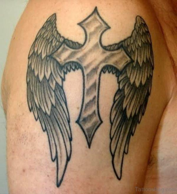 Cross Wings Tattoo