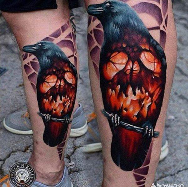 Crow And Skull Tattoo