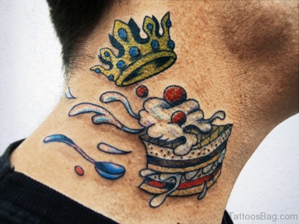 Crown And Cake Tattoo
