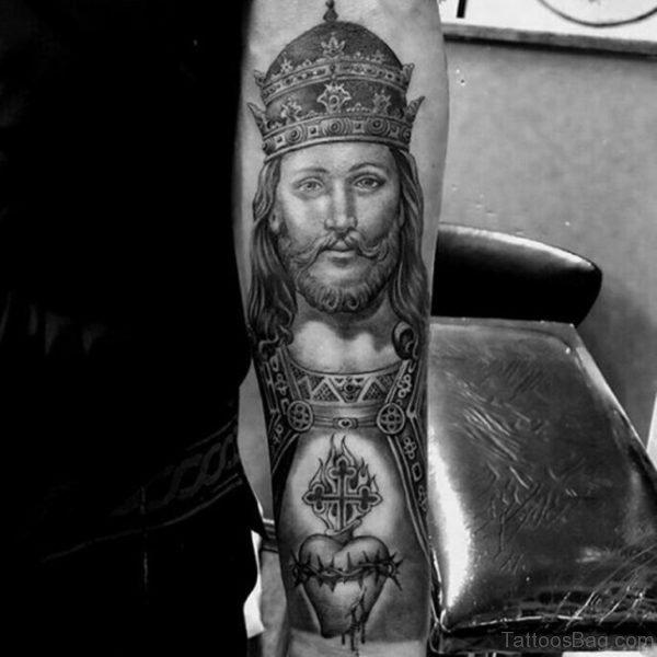 Crowned Jesus Tattoo