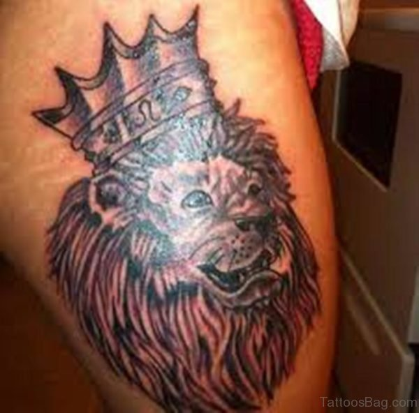 Crowned Lion Tattoo