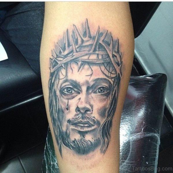 Crying Jesus Tattoo