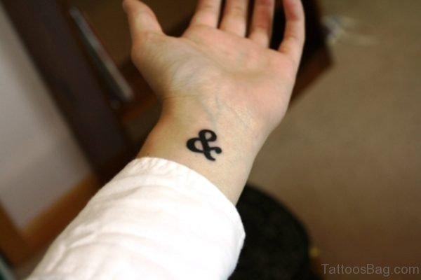 Cute Ampersand Tattoo On Wrist