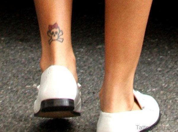 Cute Ankle Skull Tattoo