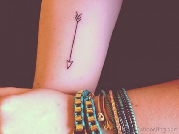 Cute Arrow Tattoo For Wrist