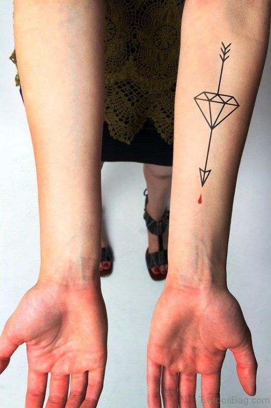 Cute Arrow Tattoo On Arm