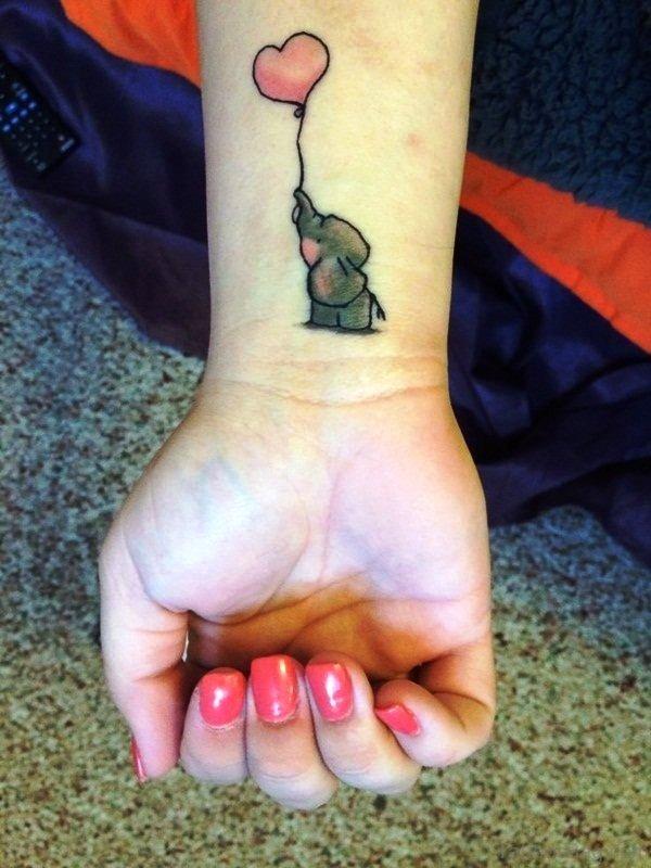 Cute Balloon Tattoo On Wrist