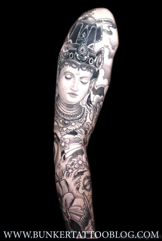 Cute Buddha Tattoo Design