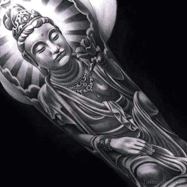 Cute Buddha Tattoo Full Sleeve