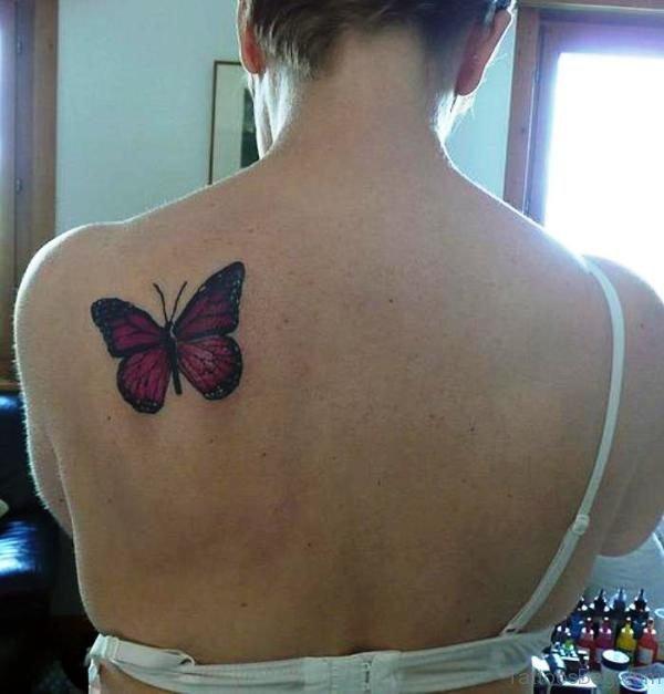 Cute Butterfly Shoulder Tattoo Design