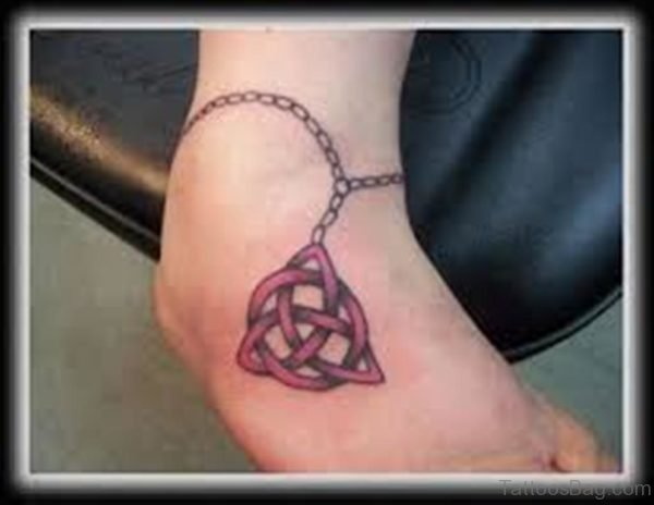 Cute Celtic Knot Tattoo On Ankle