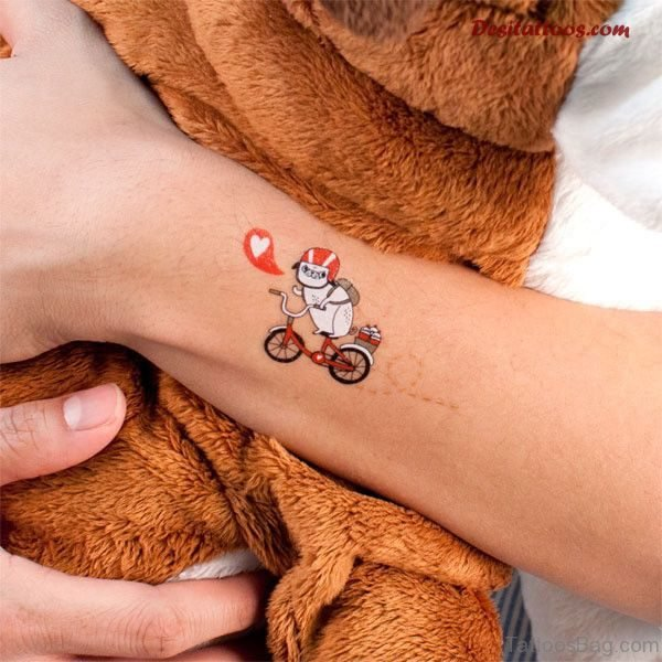 Cute Cycle Wrist Tattoo