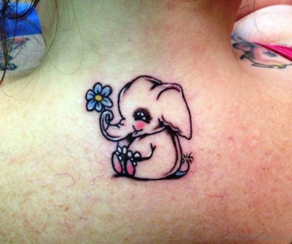 Cute Elephant Tattoo Design