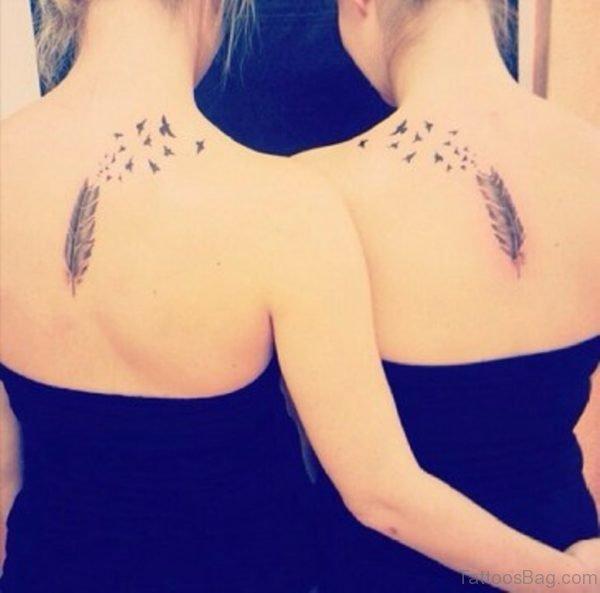 Cute Feather Tattoo Design