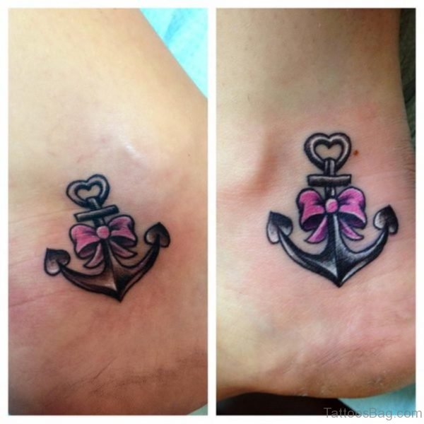 Cute Friendship Anchor Tattoo