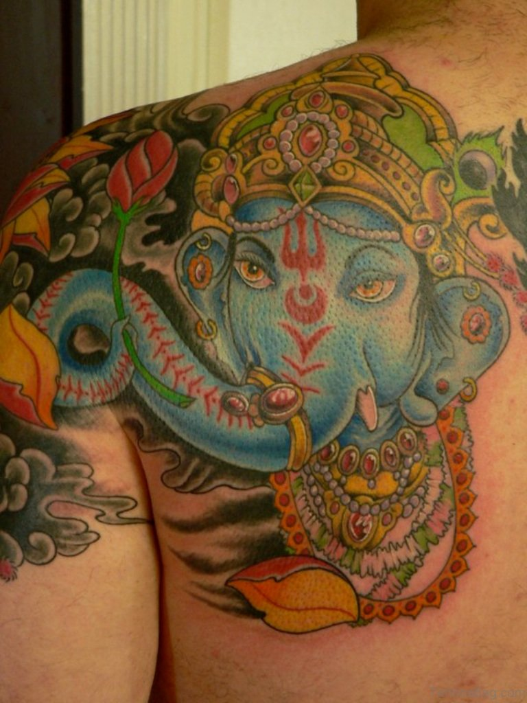 50 great ganesha tattoos on back. Black Bedroom Furniture Sets. Home Design Ideas
