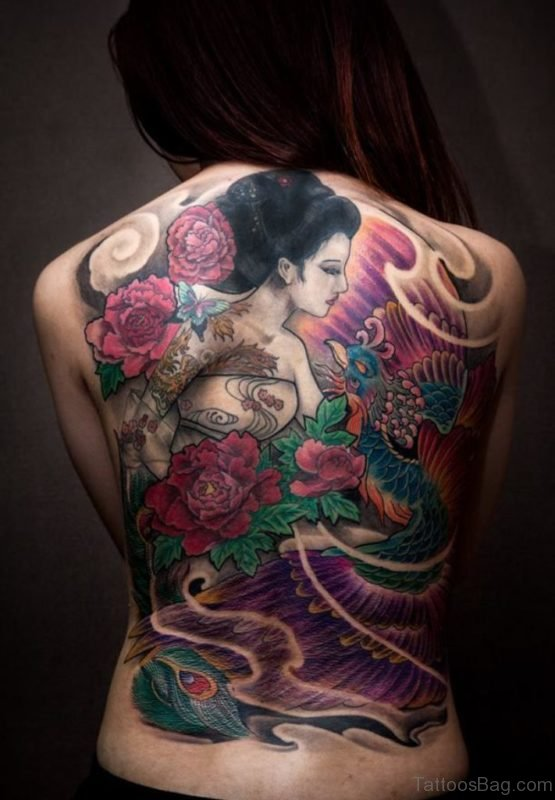 Cute Geisha Tattoo Design