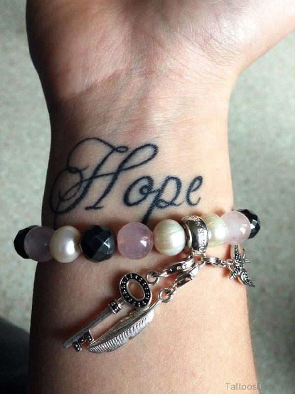 Cute Hope Wrist Tattoo