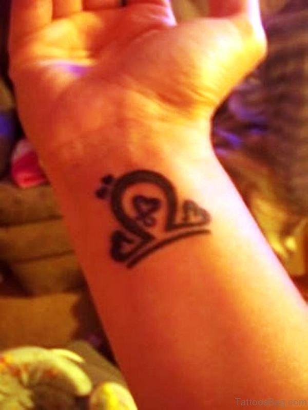 Cute Libra Wrist Tattoo