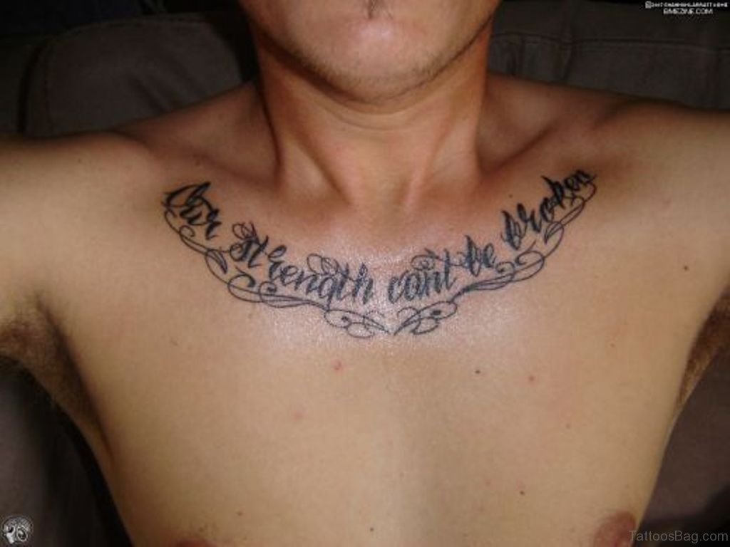 6800e8cec40d4 70 Alluring Wording Tattoo On Chest