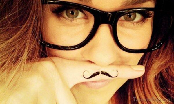 Cute Mustache Tattoo