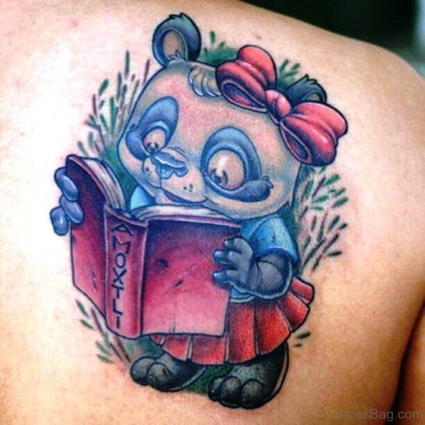 Cute Panda Tattoo On Shoulder