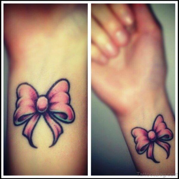 100 terrific bow tattoos on wrist for Cute bow tattoos
