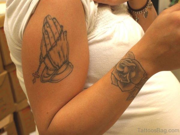 Cute Praying Hands Tattoo