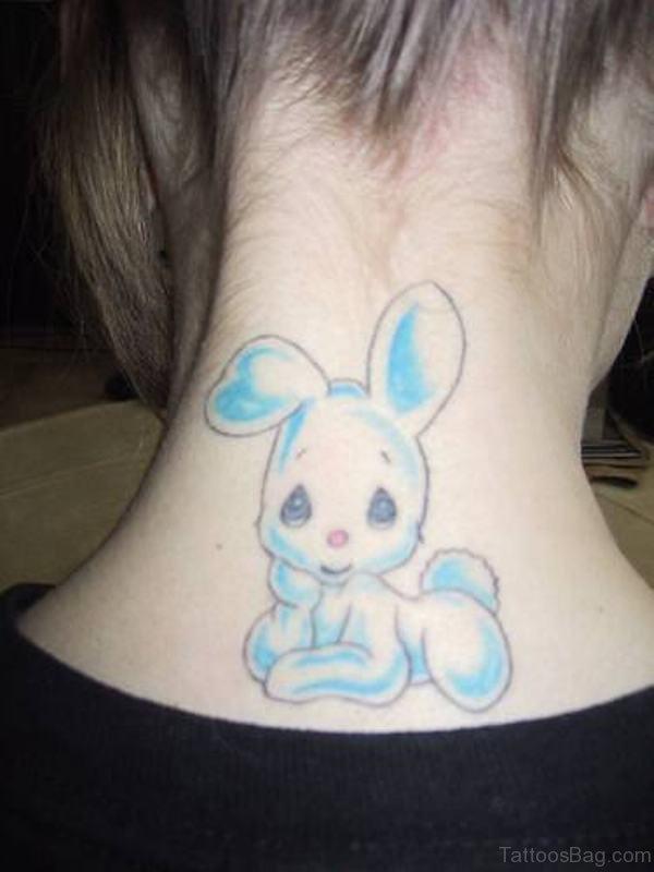 Cute Rabbit Tattoo Design