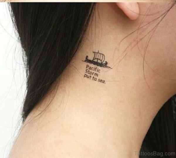 Cute Ship Tattoo