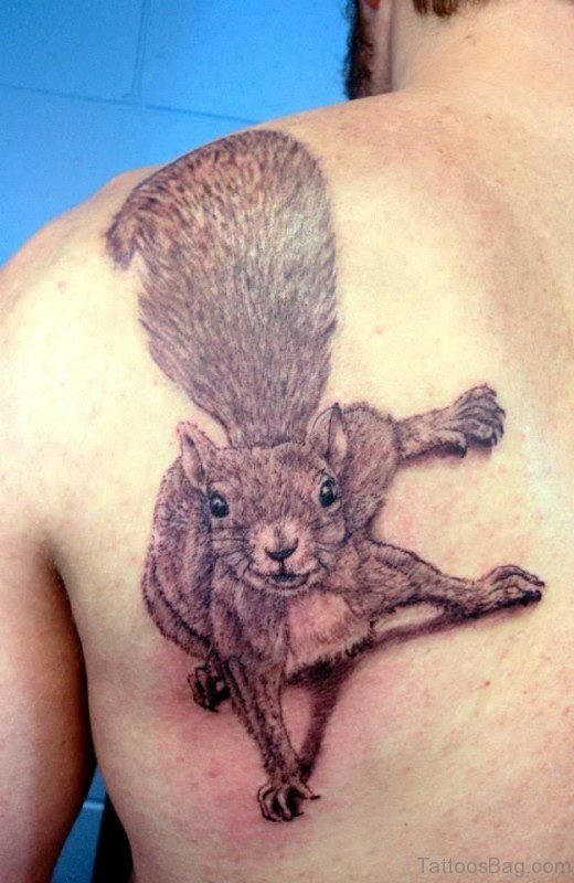 Cute Squirrel Blade Tattoo