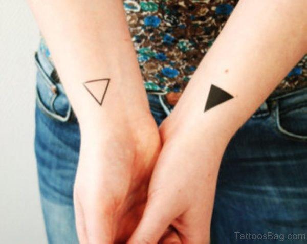 Cute Two Triangle Tattoo