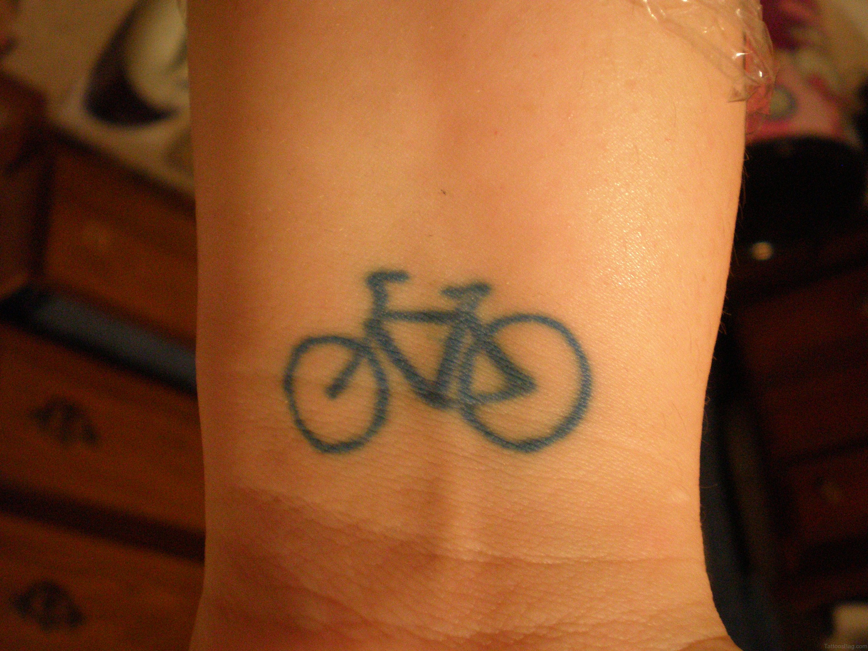 26 wonderful bike tattoos on wrist. Black Bedroom Furniture Sets. Home Design Ideas