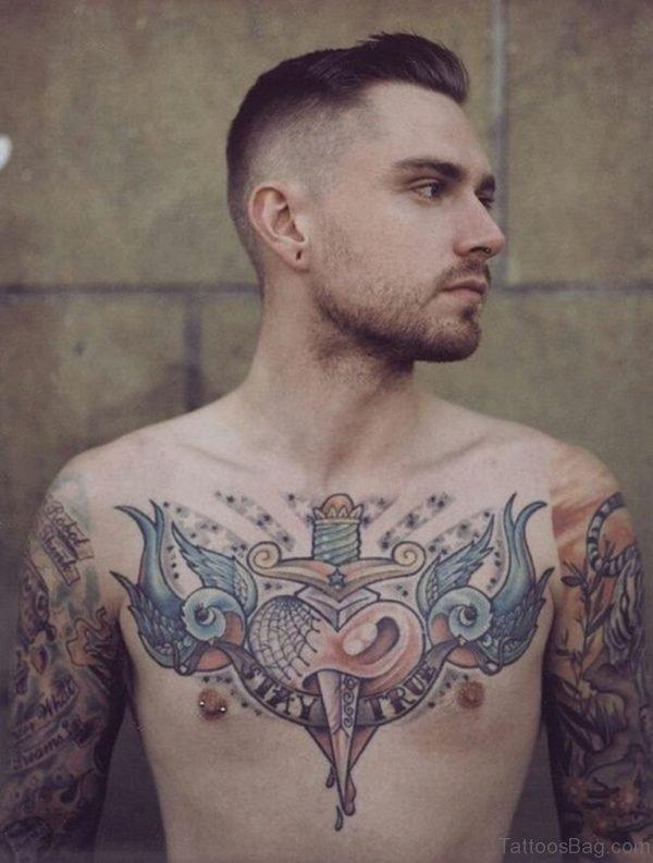 Dagger And Birds Tattoo