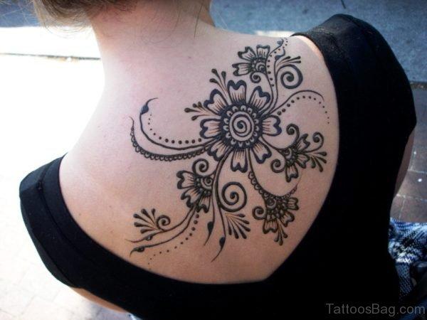 Daisy Flower Tattoo On Shoulder