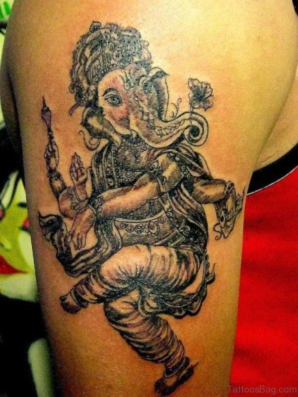 Dancing Ganesha Tattoo
