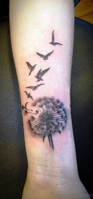 Dandelion Tattoo On Wrist For Women