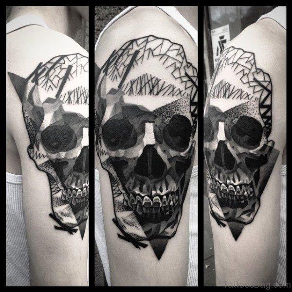 Dark Black Shoulder Tattoo