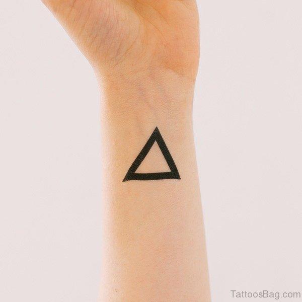 Dark Black Triangle Tattoo