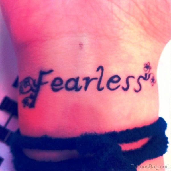 Dark Fearless Tattoo On Wrist