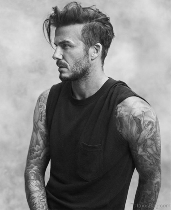 David Beckham Cool Full Sleeve Tattoo