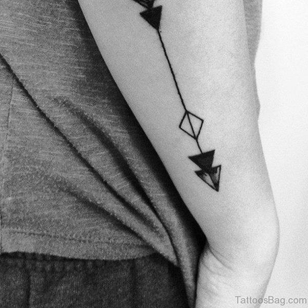 Dazzling Arrow Tattoo