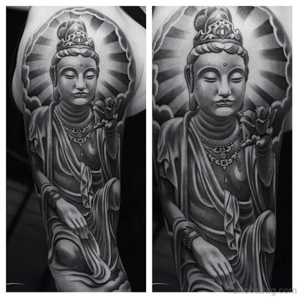 Decent Buddha Tattoo Design