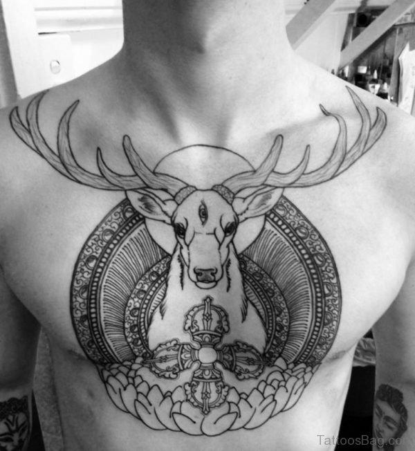 Deer And Mandala Tattoo