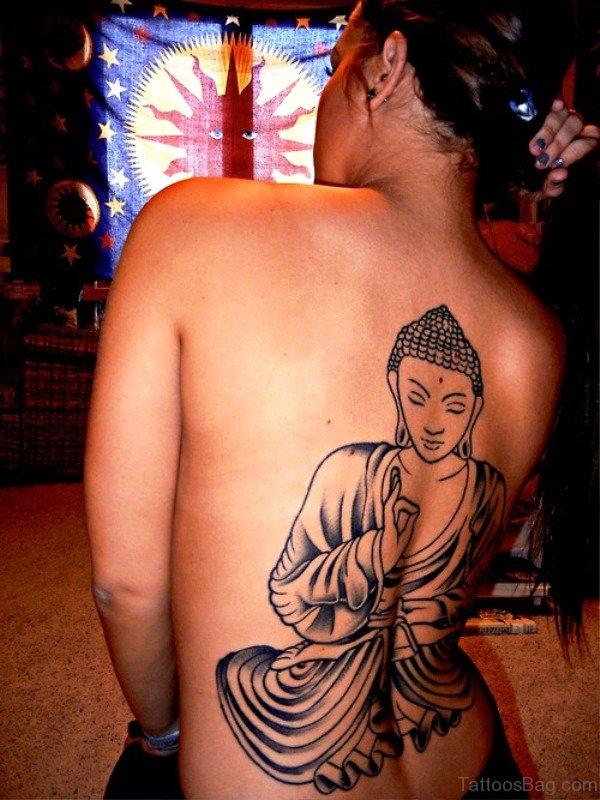 Delightful Buddha Tattoo Design 1