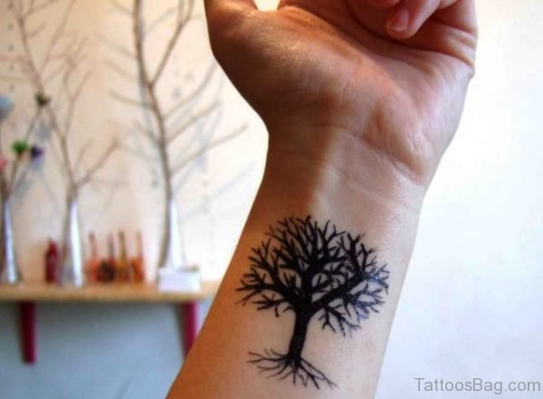 Delightful Tree Tattoo On Wrist