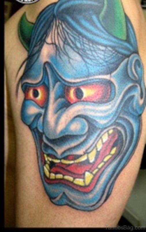 Demon Mask Tattoo Design